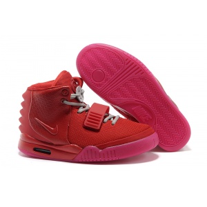 $56.00,Nike Air Yeezy Kanye West II all red Sneakers For Men in 93716