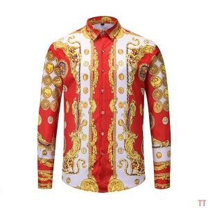 $36.00,2019 New Cheap Long Sleeved Versace Shirts For Men  # 210859