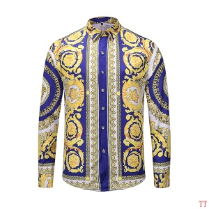 $36.00,2019 New Cheap Long Sleeved Versace Shirts For Men  # 210860