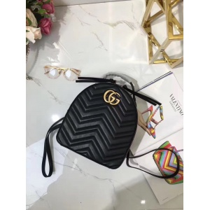 2019 AAA Quality Gucci GG Marmont Quilted Leather Backpack Bag # 211738
