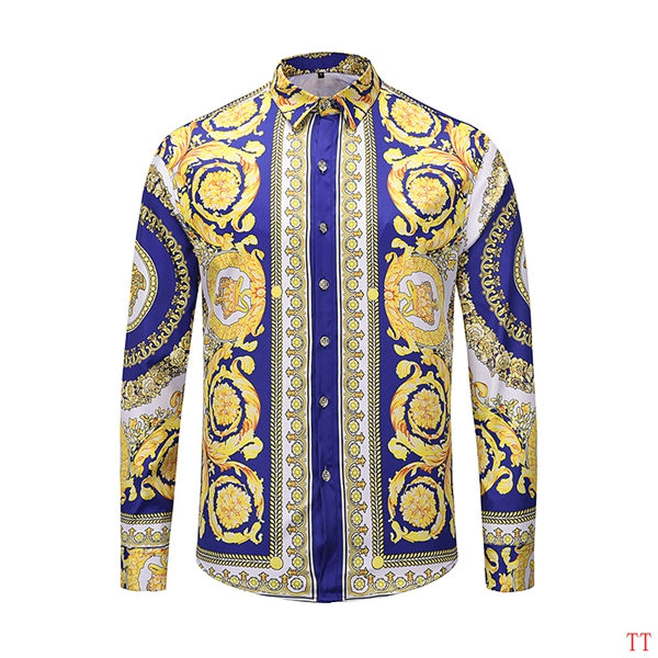 2019 New Cheap Long Sleeved Versace Shirts For Men  # 210860, cheap Versace Hoodies, only $36!