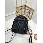 2019 AAA Quality Gucci GG Marmont Quilted Leather Backpack Bag # 211738, cheap Gucci Backpacks