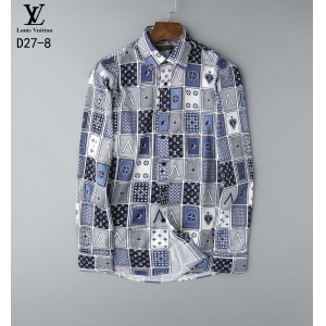 $29.00,2020 Cheap Louis Vuitton Long Sleeve Shirts For Men in 215808