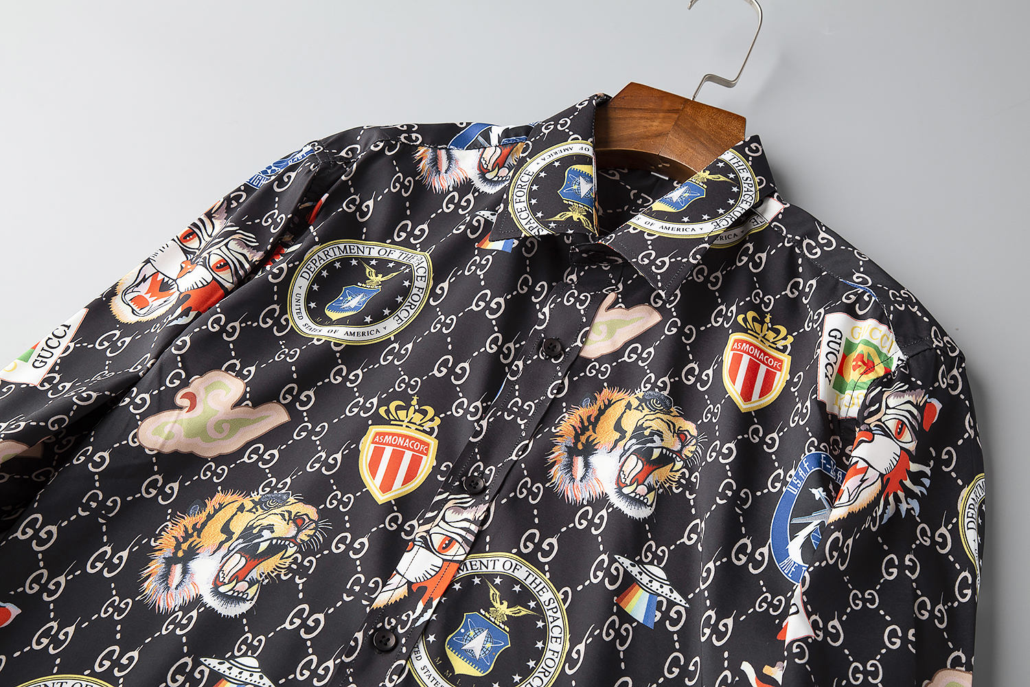 2020 Cheap Gucci Sleeve Shirts For Men in 215824, cheap Gucci shirt, only $29!