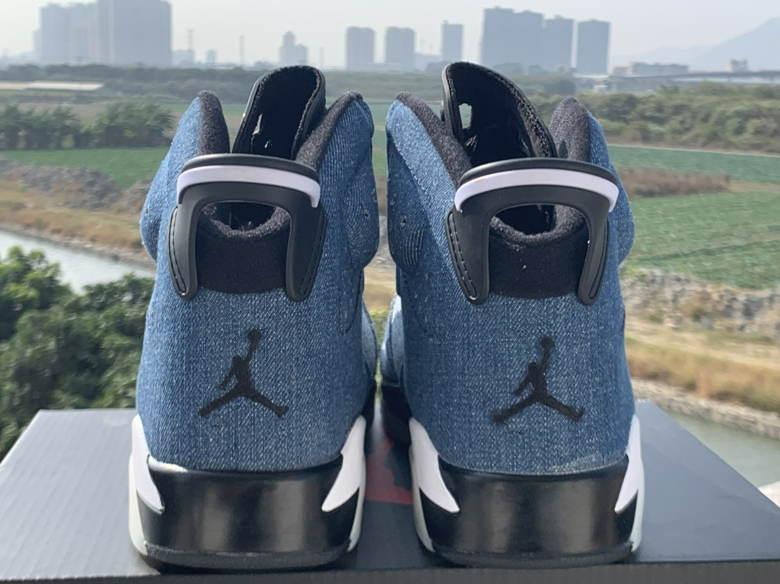 2020 Cheap Air Jordan 6 High Washed Denim Sneakers  in 216583, cheap Jordan6, only $65!