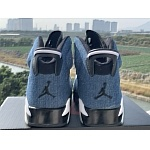 2020 Cheap Air Jordan 6 High Washed Denim Sneakers  in 216583, cheap Jordan6