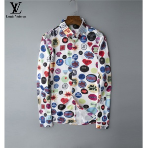 $30.00,2020 Cheap Louis Vuitton Long Sleeve Shirts For Men # 220058