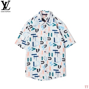$33.00,2020 Cheap Louis Vuitton Short Sleeve Shirts For Men # 222762