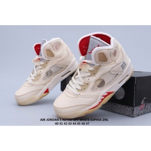 2020 Cheap Air Jordan 5 X Off White Sneakers Unisex in 223449