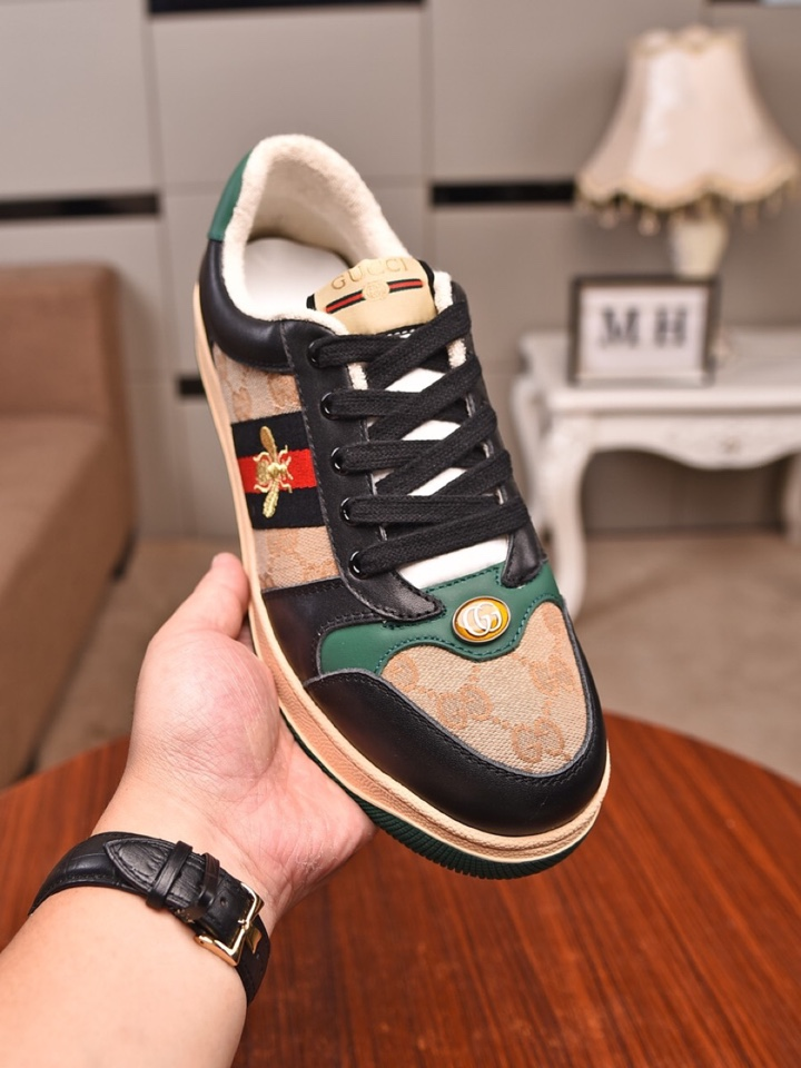Gucci Screener leather sneaker  Sneakers For Men # 232677, cheap Low Top, only $82!