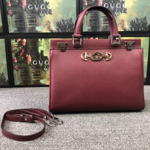 Gucci Zumi grainy leather small top handle bag # 233262