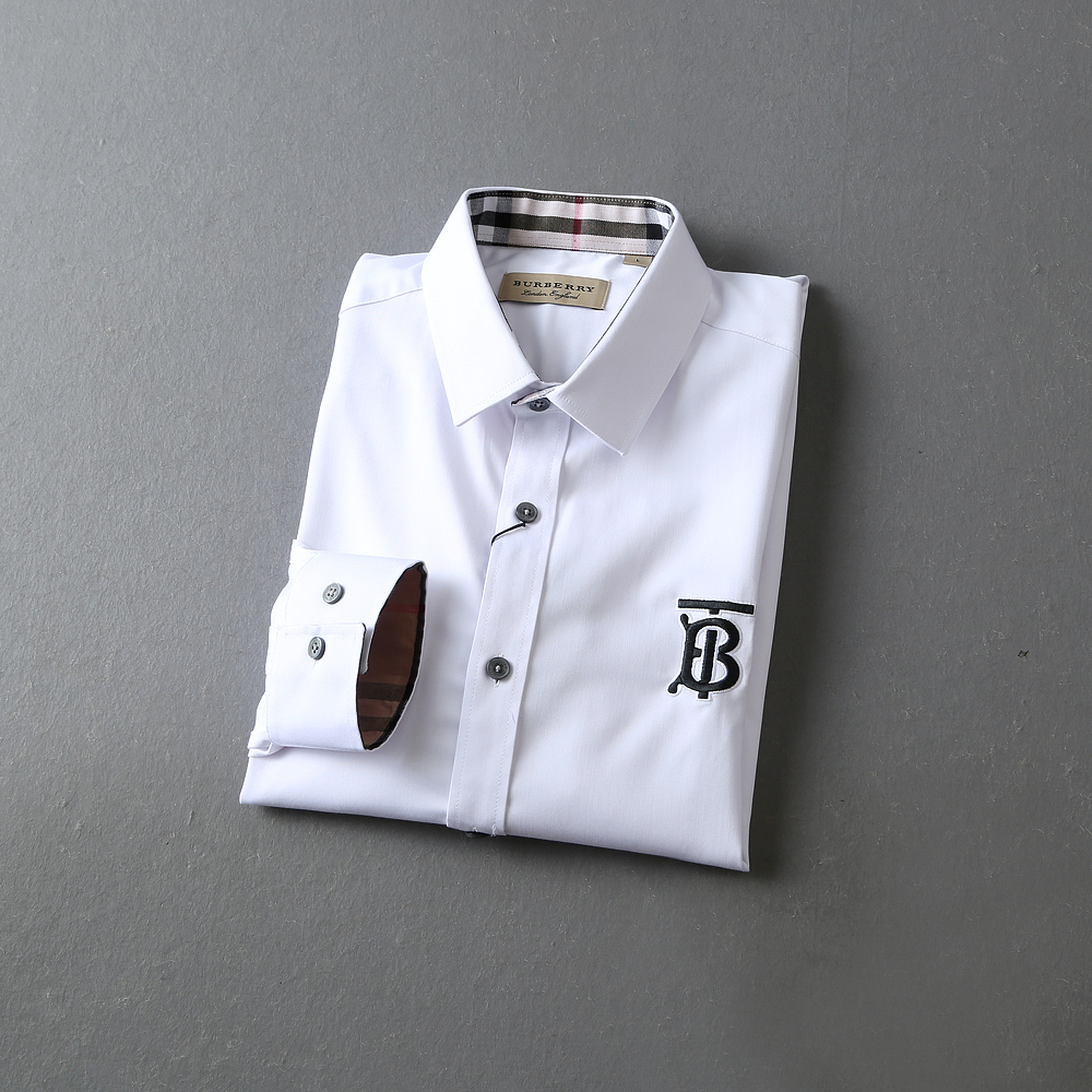 Burberry Classic Plain Cotton Long Sleeve Shirts For Men # 233430, cheap Burberry Shirts, only $29!