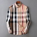 Burberry Classic Check Cotton Long Sleeve Shirts For Men # 233425