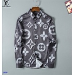 2021 Louis Vuitton Long Sleeve Shirts For Men in 237210