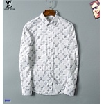 2021 Louis Vuitton Long Sleeve Shirts For Men in 237211